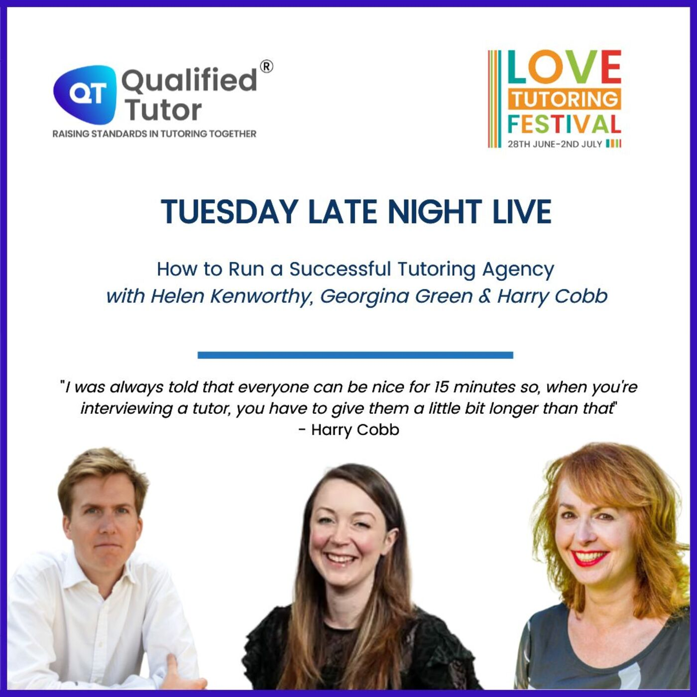 Love Tutoring Festival 2021 Podcast #2 - How to Run a Successful Tutoring Agency