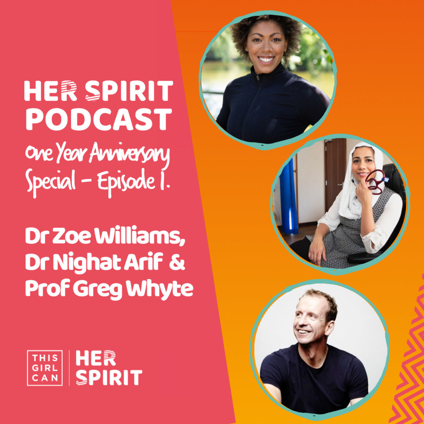 Louise and Annie host the first of two anniversary Her Spirit episodes. Dr Nighat Arif, Dr Zoe Williams and Prof Greg Whyte talk about life over the last twelve months and predictions for the years ahead