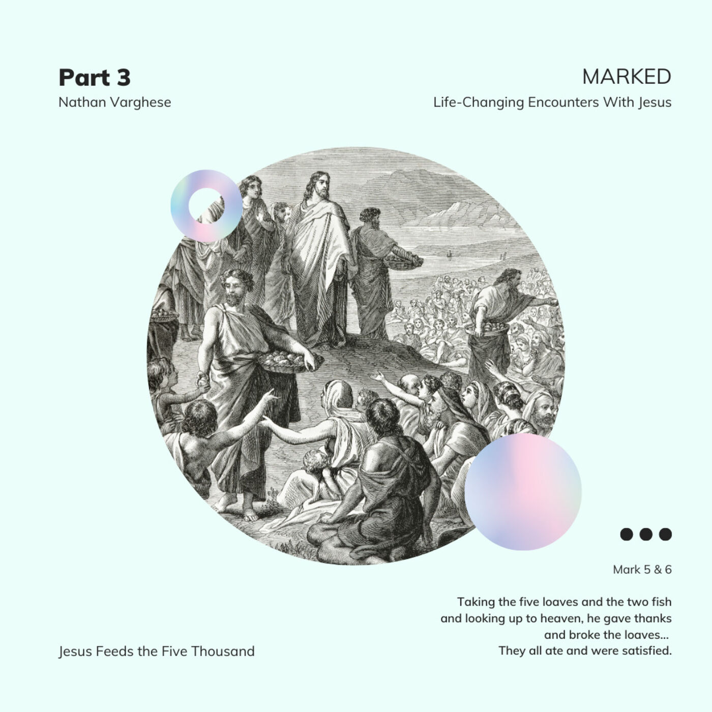 MARKED. Life-Changing Encounters With Jesus - Mark 6:30-44 - Nathan Varghese