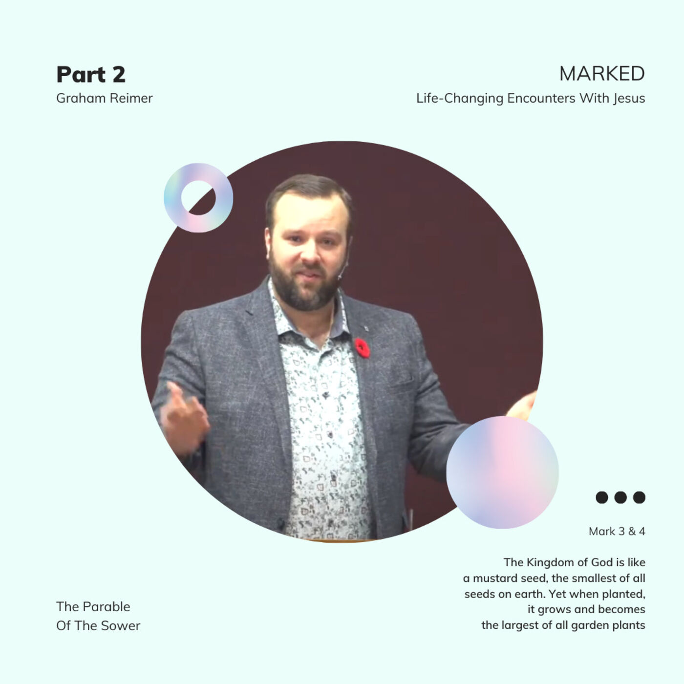 MARKED. Life-Changing Encounters With Jesus - Mark 3 & 4 - Graham Reimer