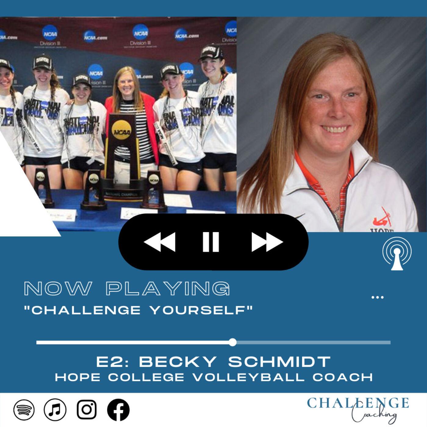 E2: Becky Schmidt: Hope College Volleyball Coach