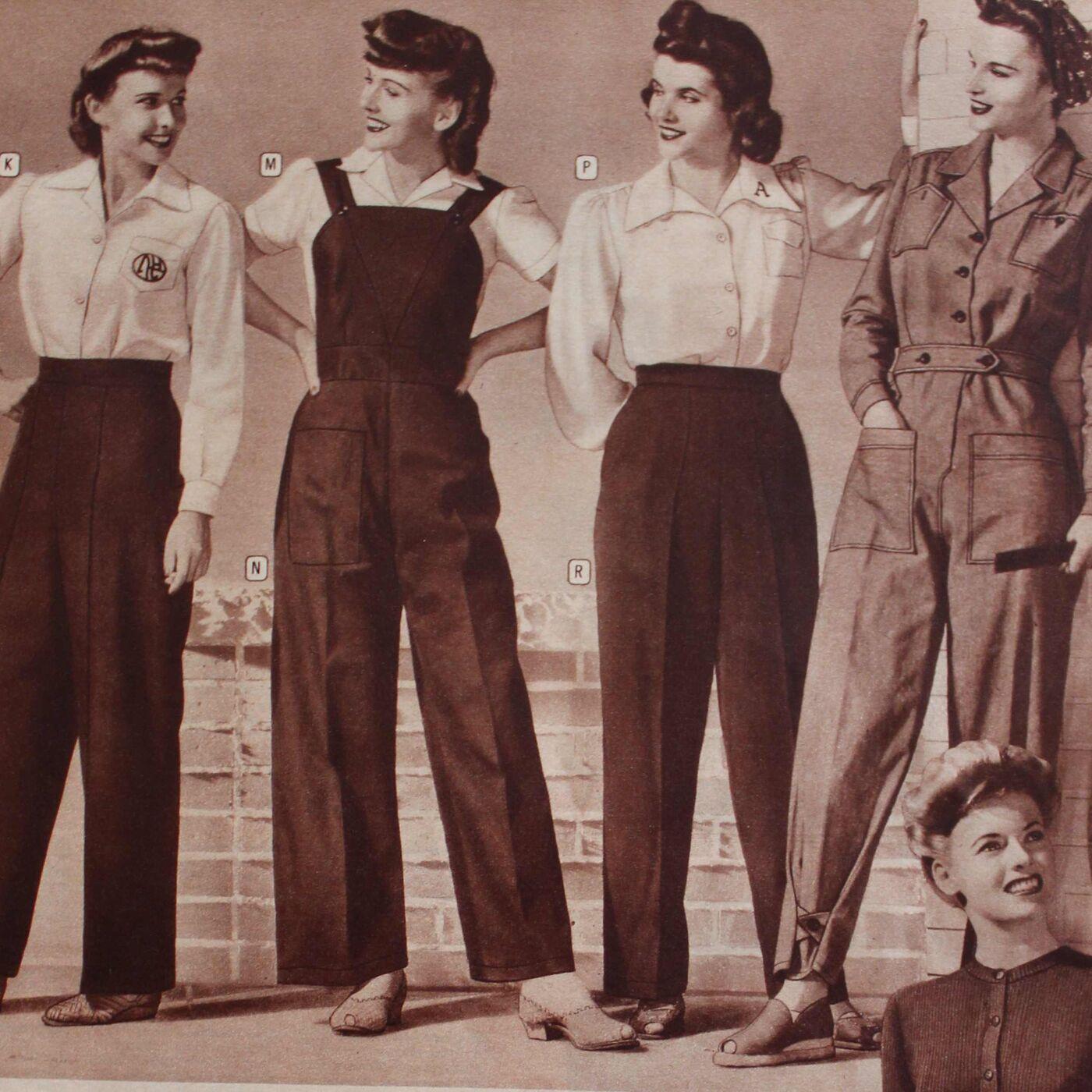 Trousers in women's wear