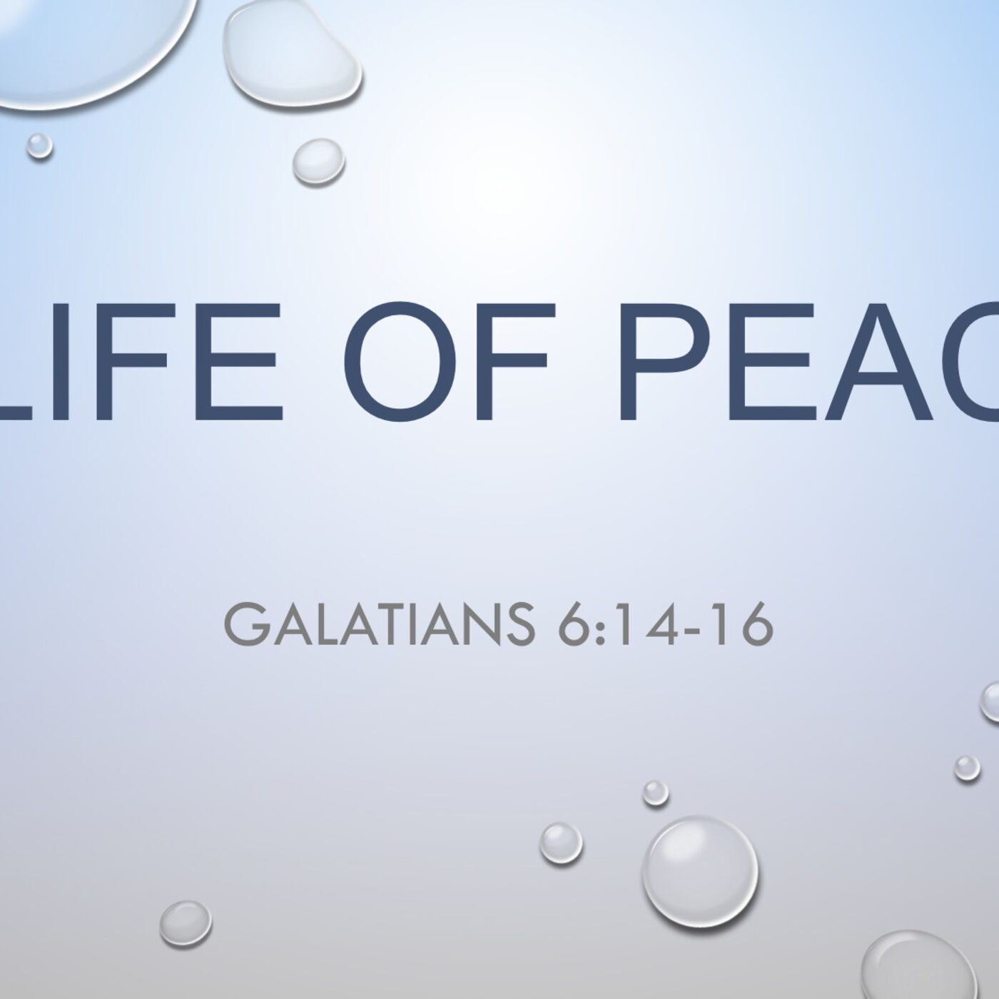 A Life Of Peace