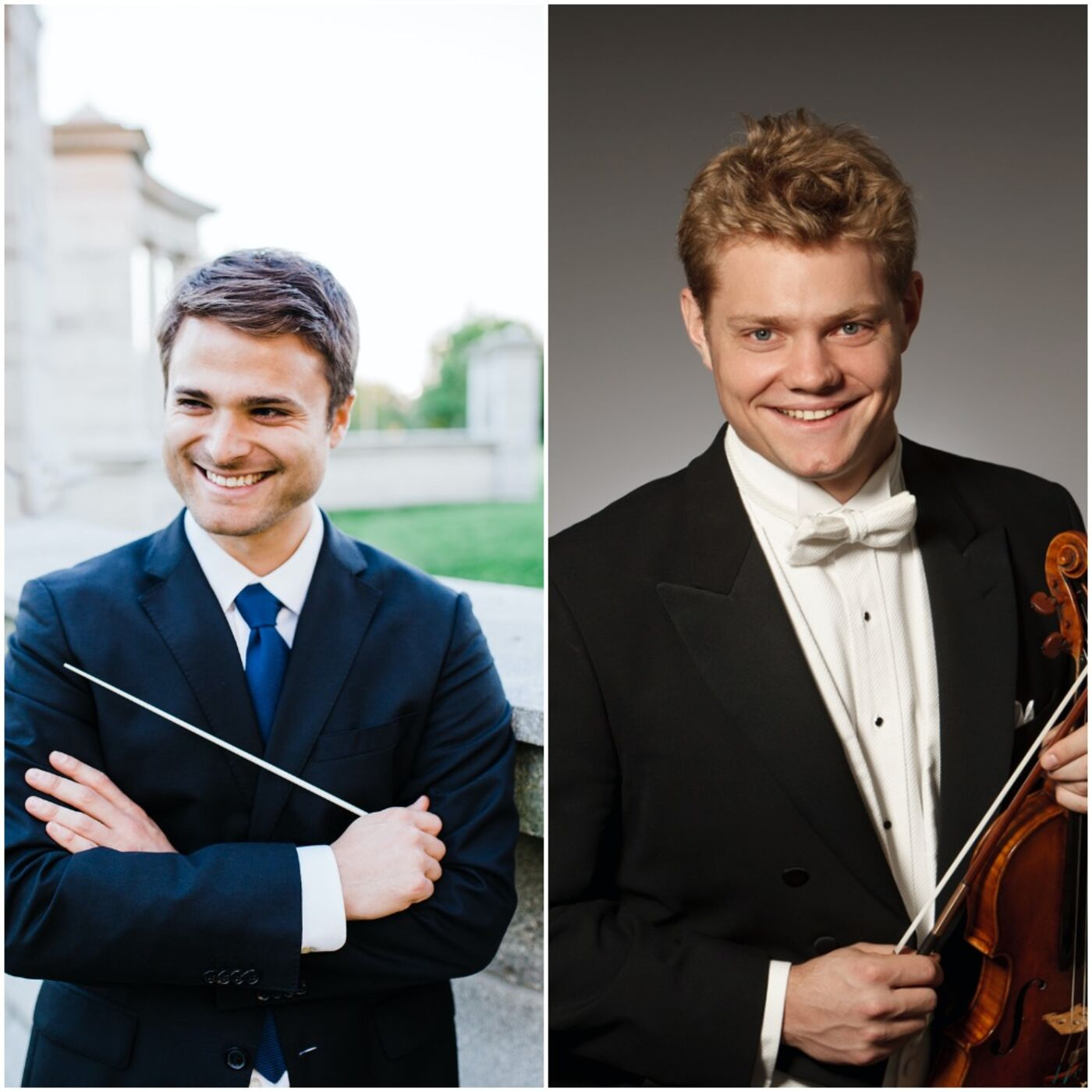 Sarasota Orchestra's Guest Conductor and Soloist, Stephen Mulligan and David Coucheron, Join the Club