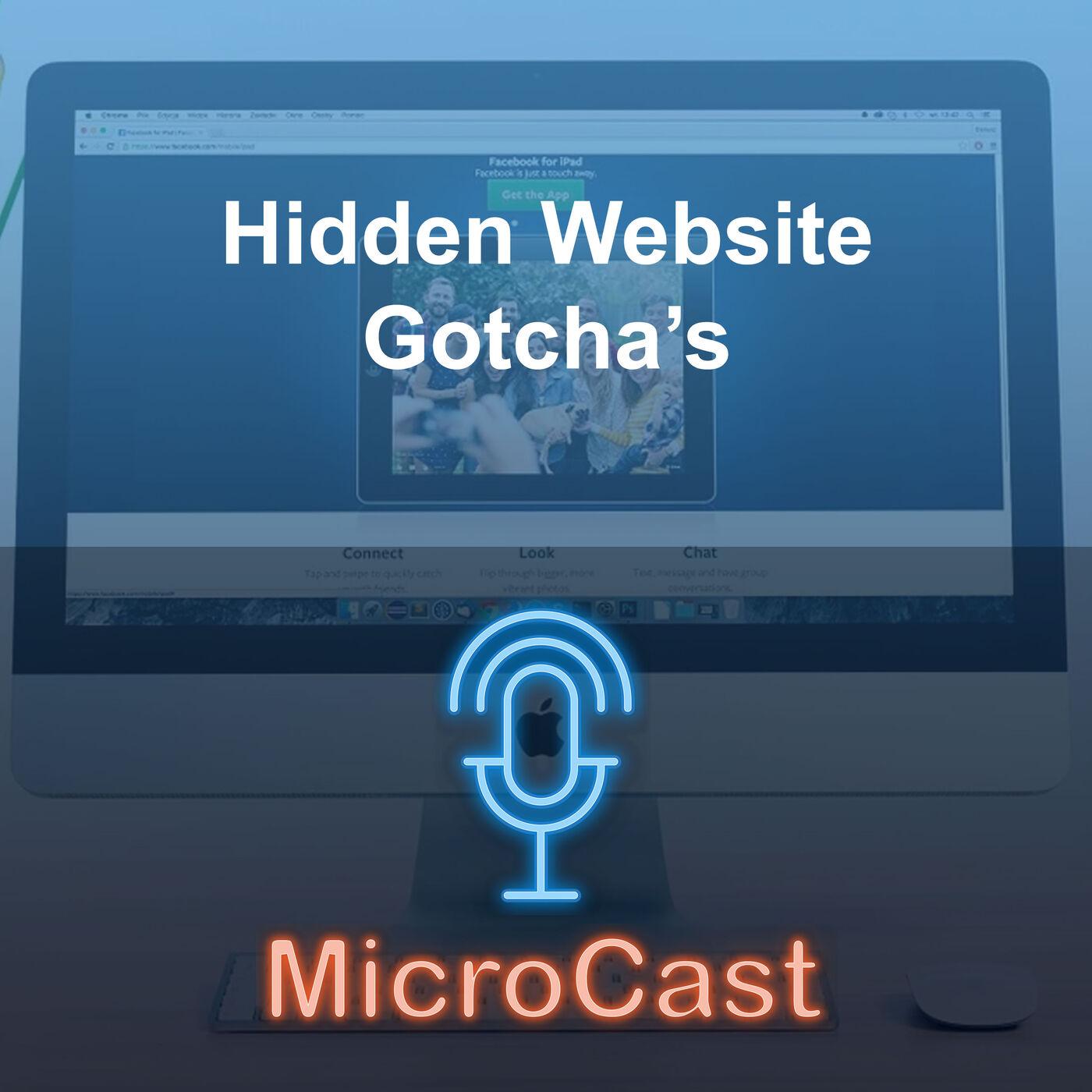 Episode 33 - Hidden Website Gotchas