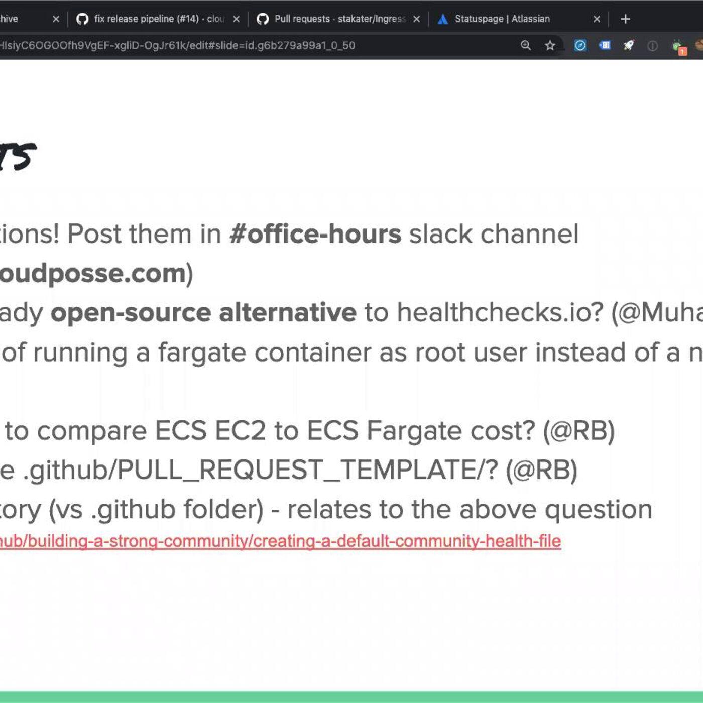 """Cloud Posse DevOps """"Office Hours"""" (2020-07-08)"""