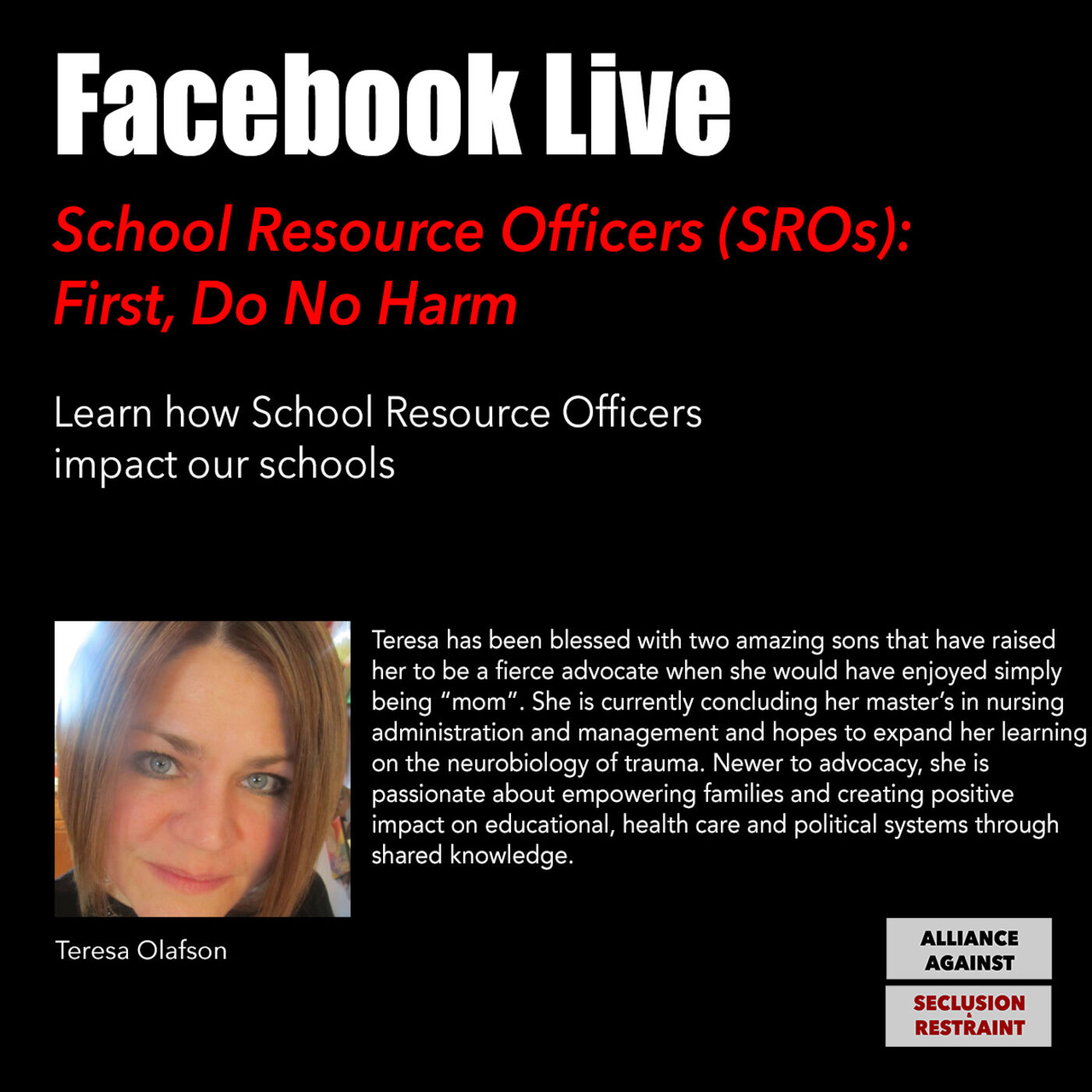 School Resource Officers (SROs): First, Do No Harm