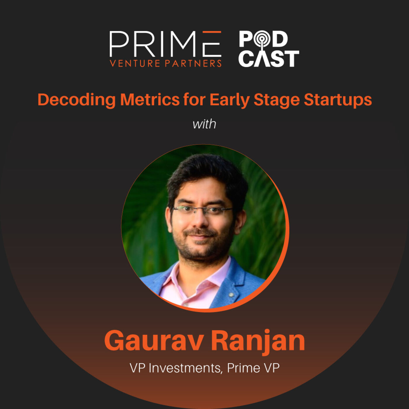 #50 Decoding Metrics For Early Stage Startups with Gaurav Ranjan VP Investments Prime Venture Partners