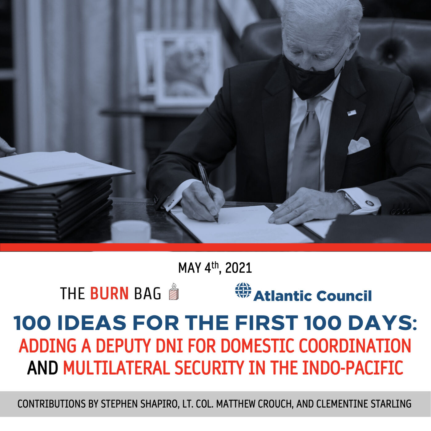 100 Ideas for the First 100 Days: Adding a Deputy DNI for Domestic Coordination and Multilateral Security in the Indo-Pacific