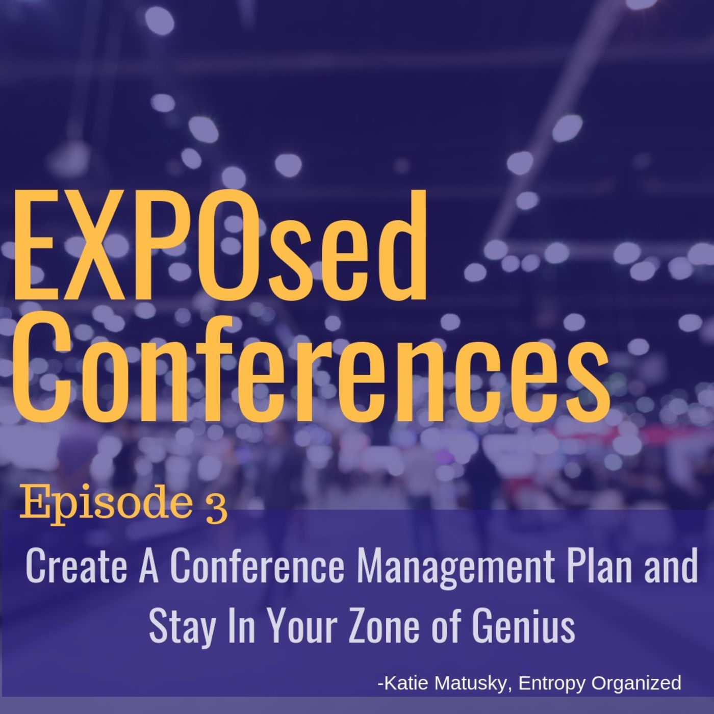 Episode 03. Create a Conference Management Plan and Stay In Your Zone of Genius