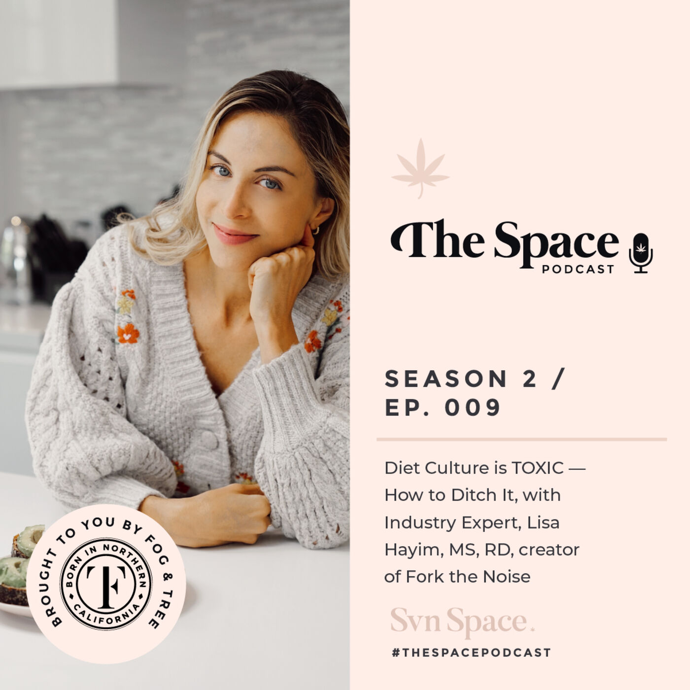 THE Space #009: Diet Culture is TOXIC — How to Ditch It, with Industry Expert, Lisa Hayim, MS, RD, creator of Fork the Noise