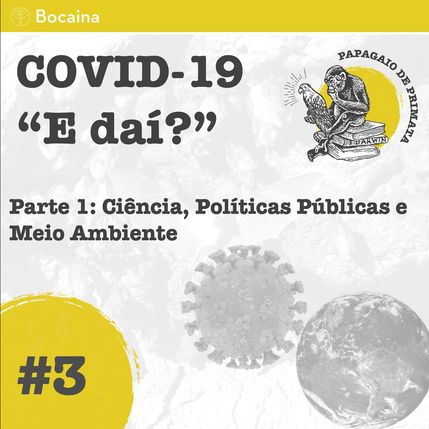 """#3 - COVID-19 """"E daí"""" Parte 1: Ciência, Políticas Públicas e Meio Ambiente"""