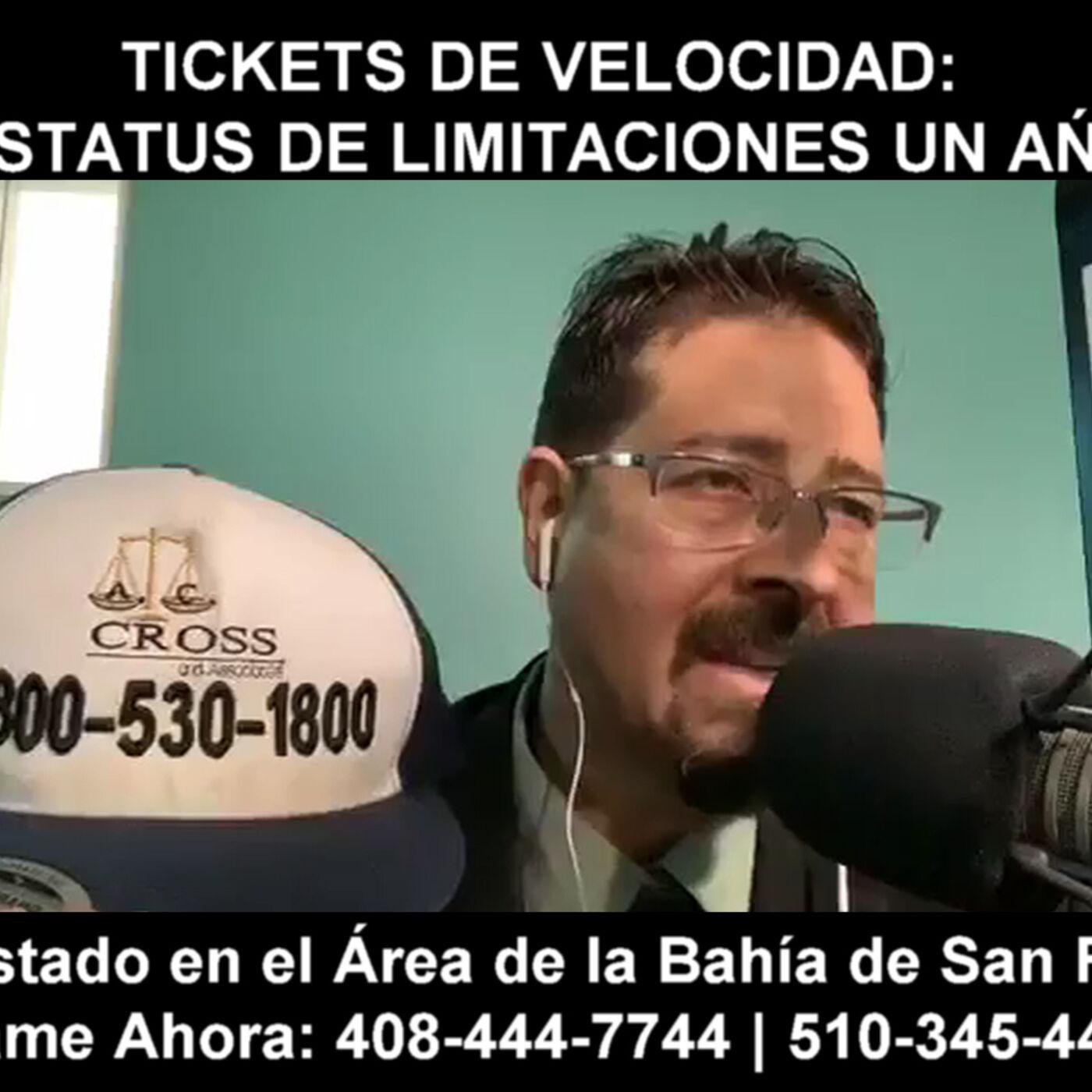 Tickets de velocidad: estatus de limitaciones un ańo