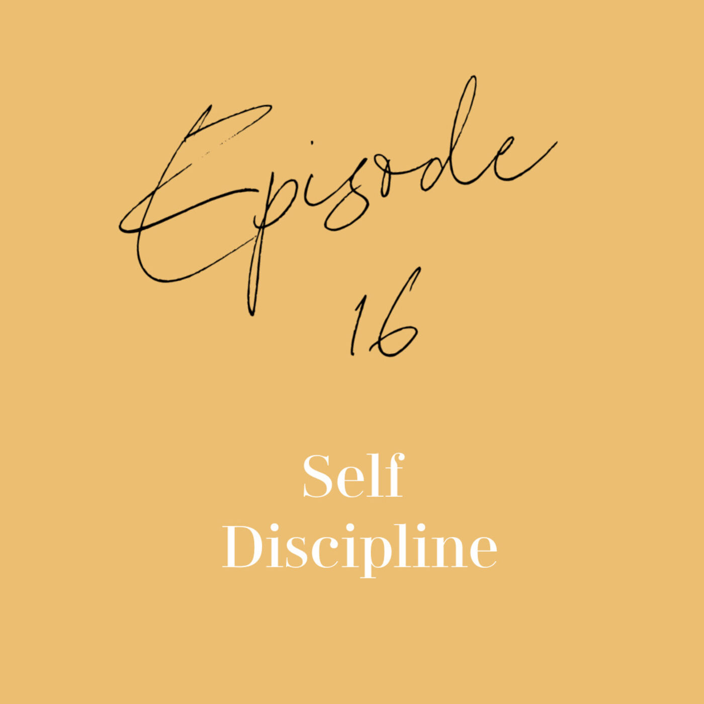 Episode 16: Self Discipline