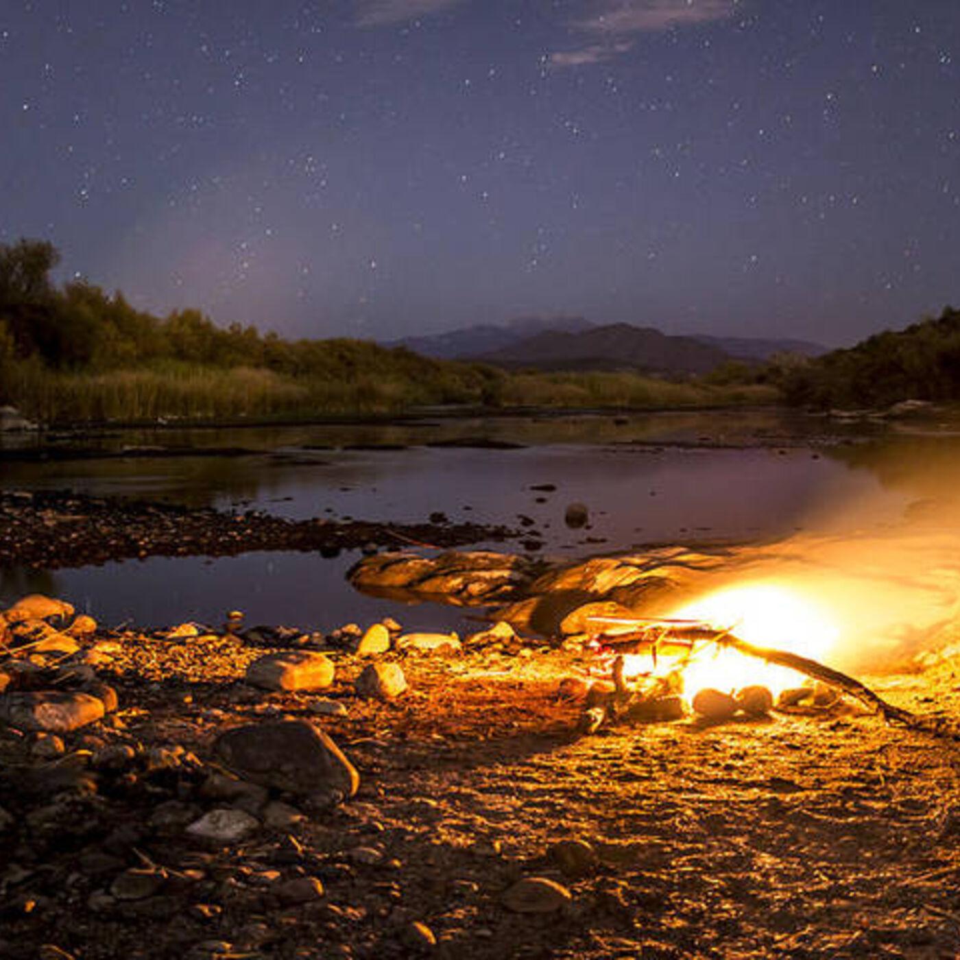 A Campfire and Train Ride