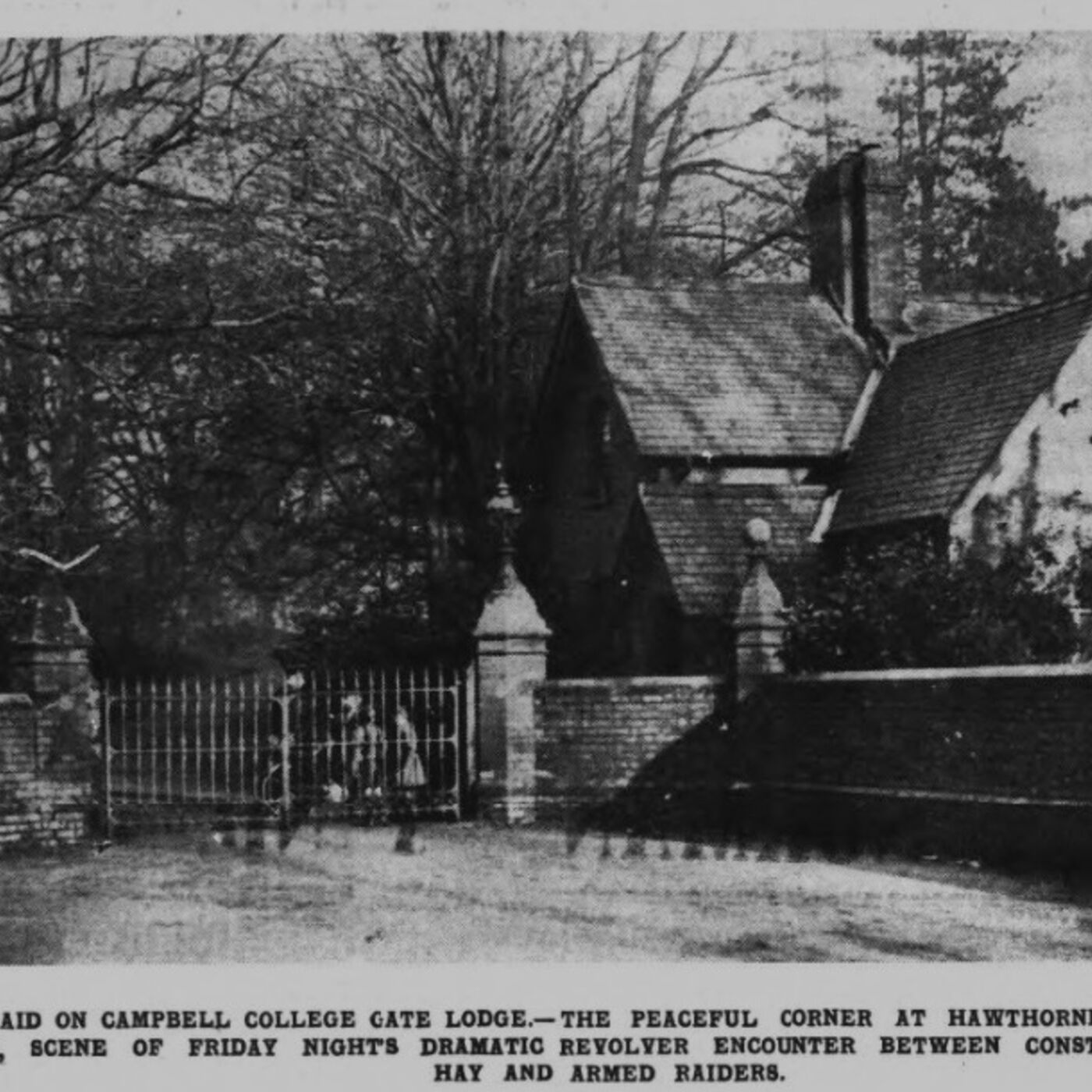 An IRA Raid For Weapons At Campbell College 1935