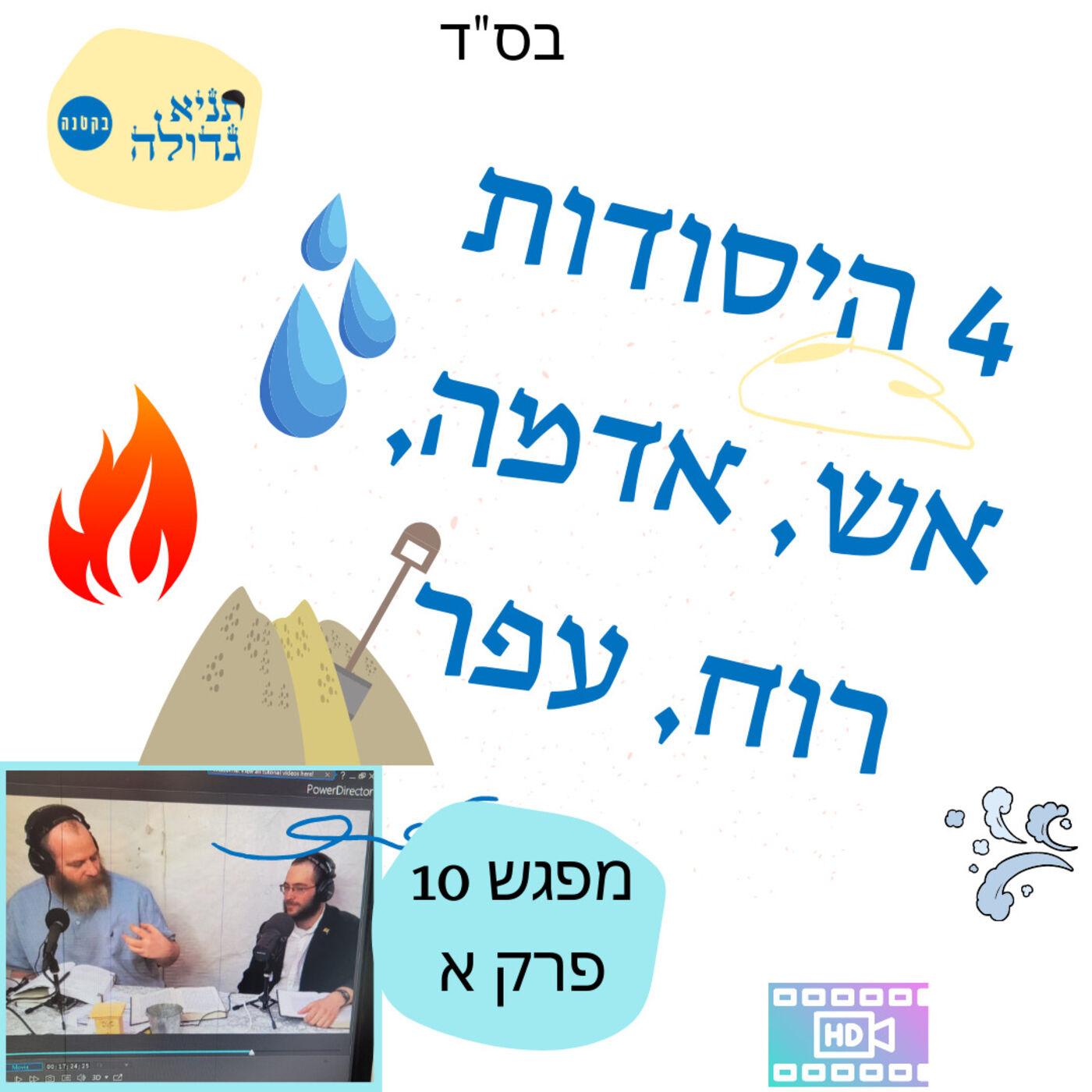 """בס""""ד תניא גדולה בקטנה מפגש 10 פרק א – 4 היסודות אש, רוח, מים עפר"""