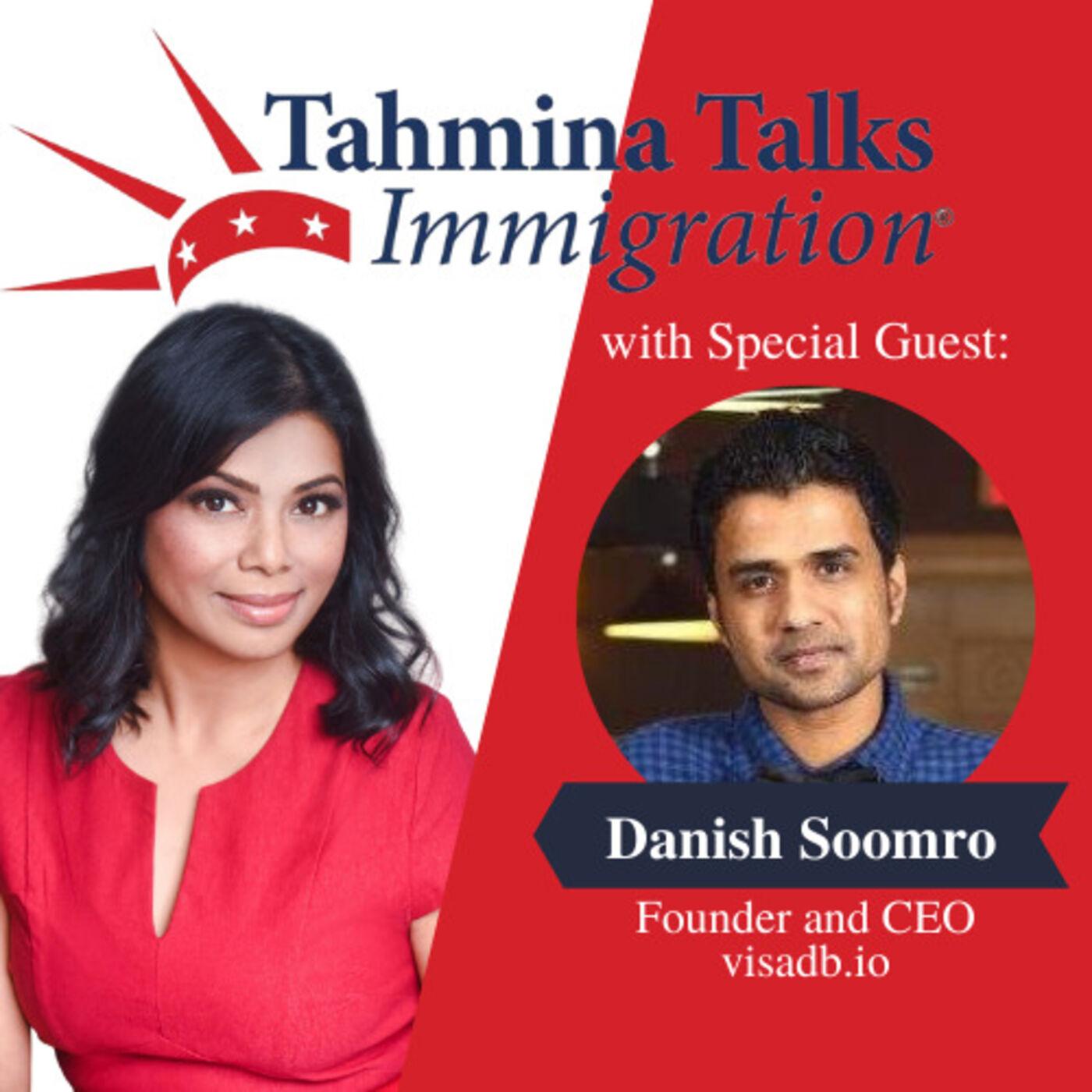 #124 Startup Visa Series - Danish Soomro, Founder and CEO, visadb.io