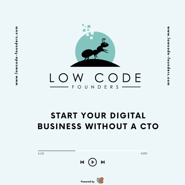 Low Code Founders  Podcast Artwork Image