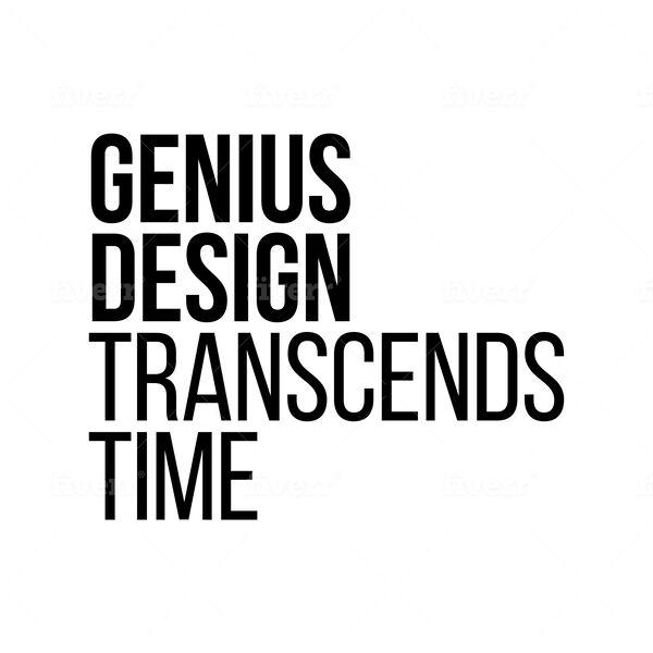 GENIUS DESIGN TRANSCENDS TIME Podcast Artwork Image
