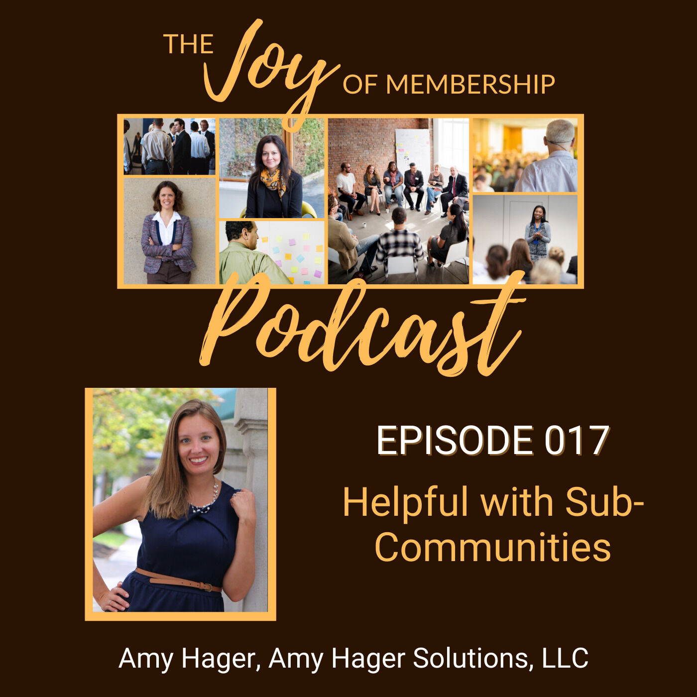Helpful with Sub-Communities: Amy Hager