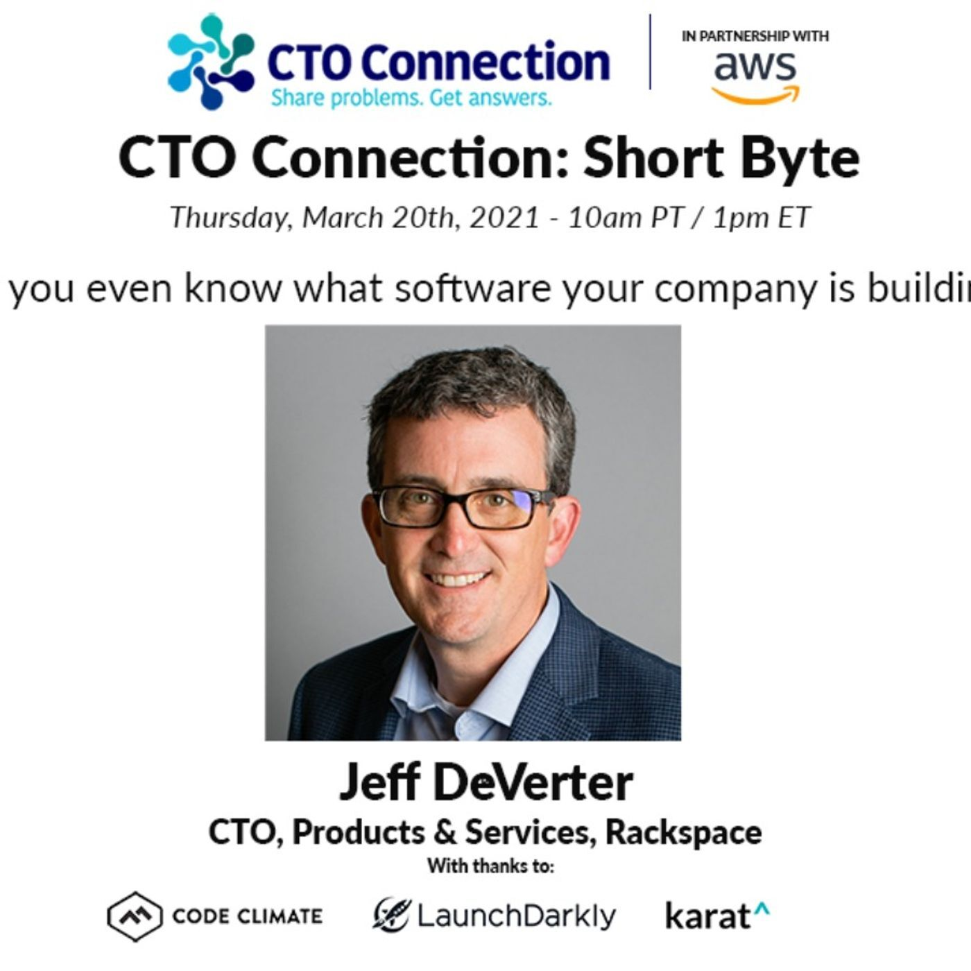 Short Byte: Jeff DeVerter - Do you even know what software your company is developing?