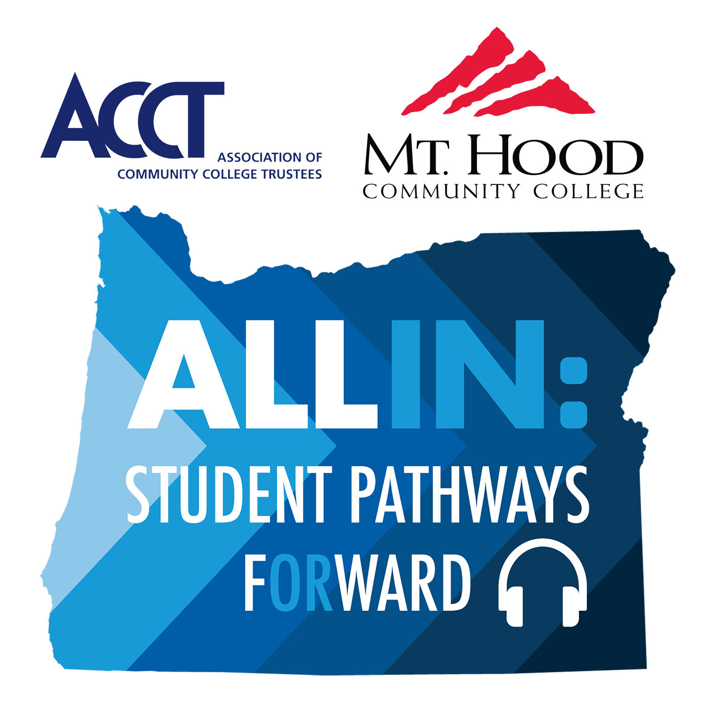 Mt. Hood Community College & ACCT - Student Bakr Alkarawi & President Dr. Lisa Skari; Association of Community College Trustees Director of Government Relations, Katie Brown
