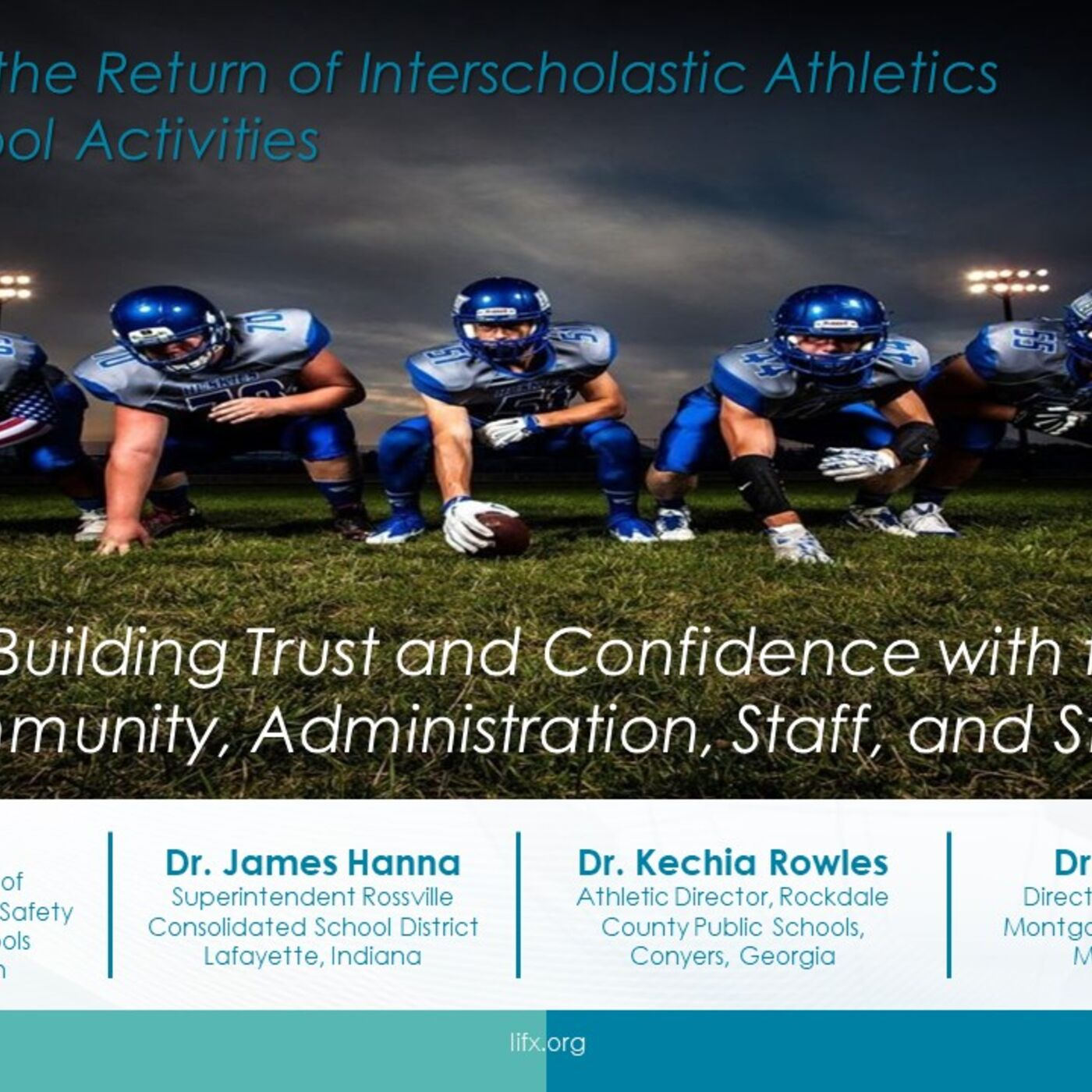 Session 9 - Building Trust and Confidence with the Community, Administration, Staff, and Students
