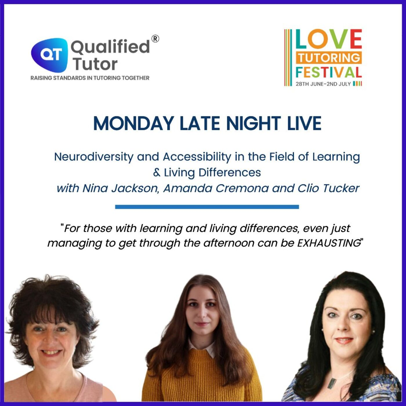 Love Tutoring Festival 2021 Podcast #1 - Neurodiversity and Accessibility in the Field of Learning & Living Differences