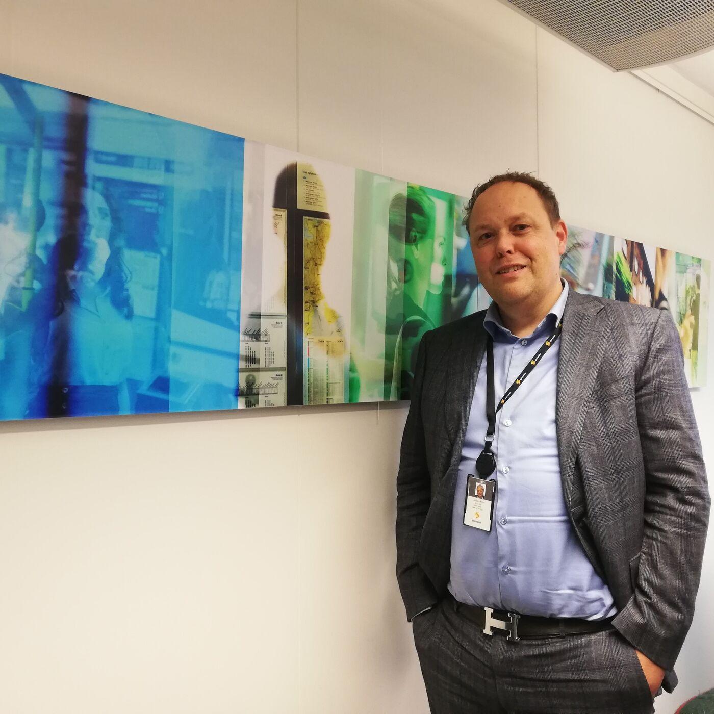 Konserndirektør for T-banen Anders Rygh og framtiden i T-banen