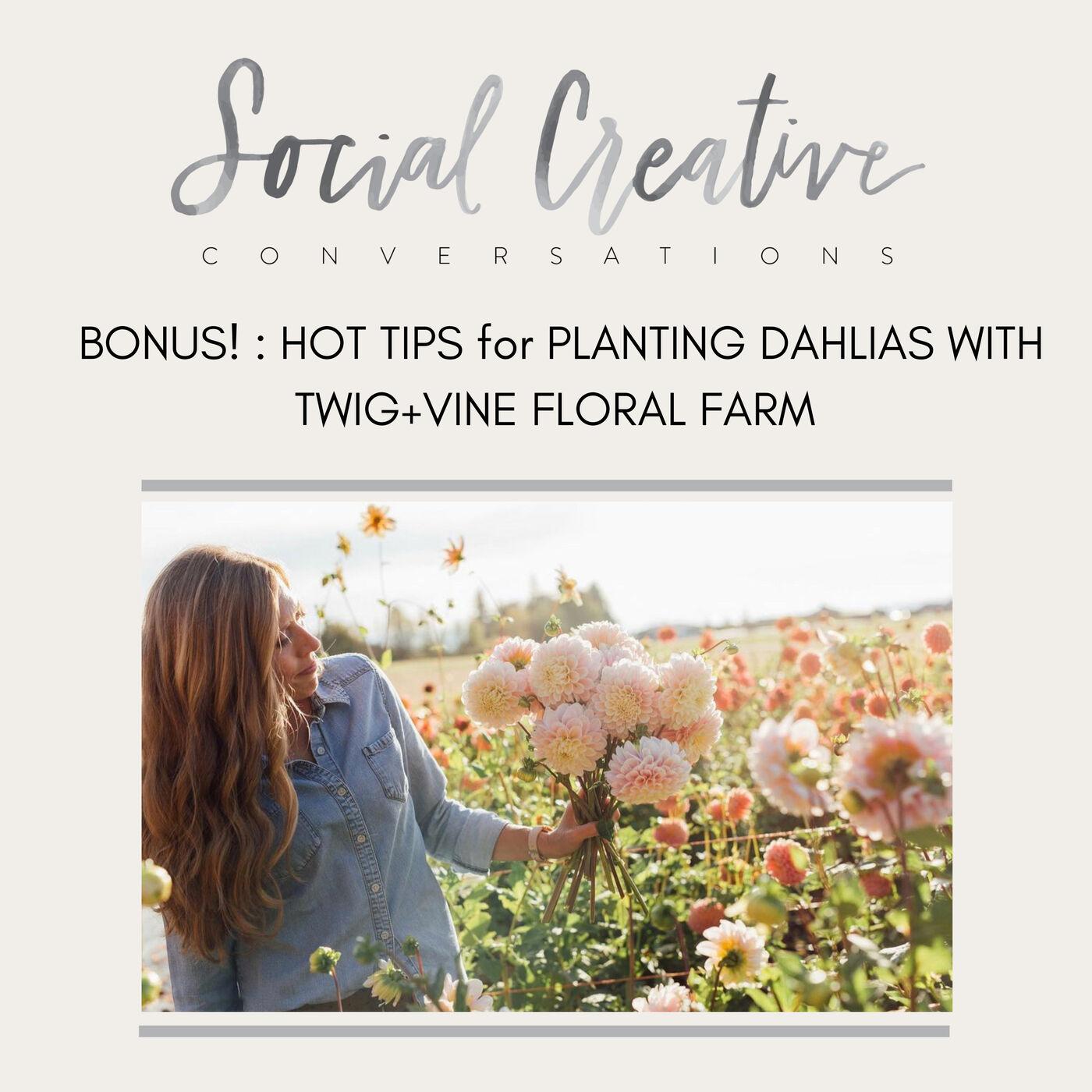 BONUS! HOT TIPS for PLANTING DAHLIAS WITH TWIG + VINE FLORAL FARM
