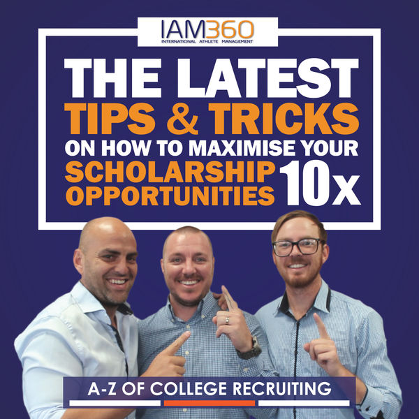 A-Z of College Recruiting & Sports Scholarships for International Students Podcast Artwork Image