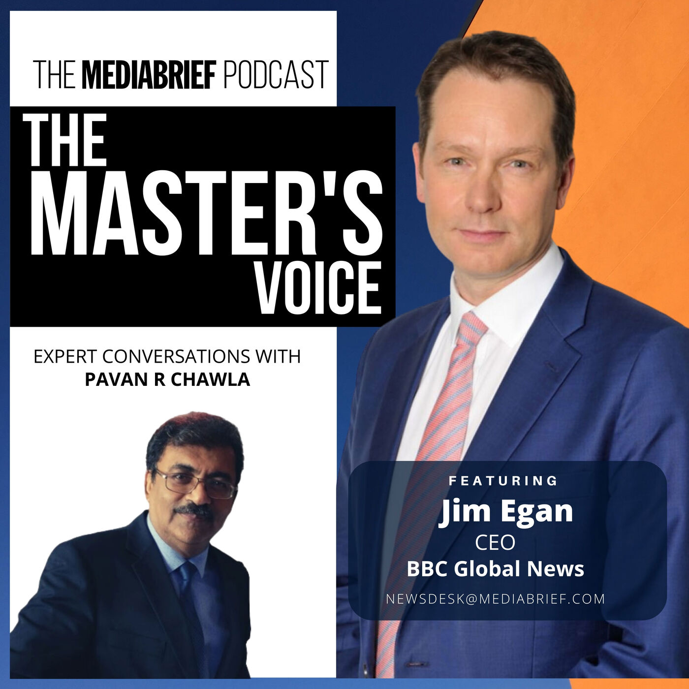 Jim Egan on The Master's Voice from MediaBrief.com