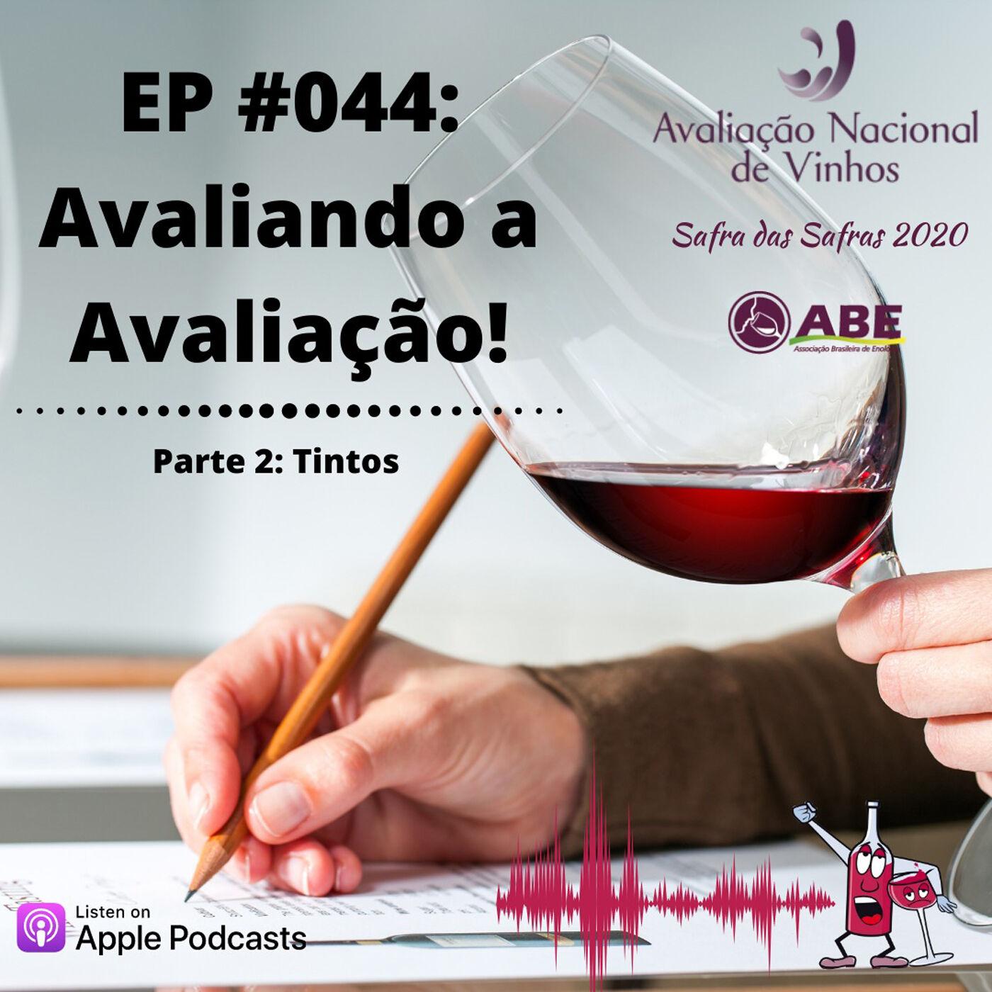 EP #044 - Avaliação Nacional de Vinhos 2020 - Parte 2