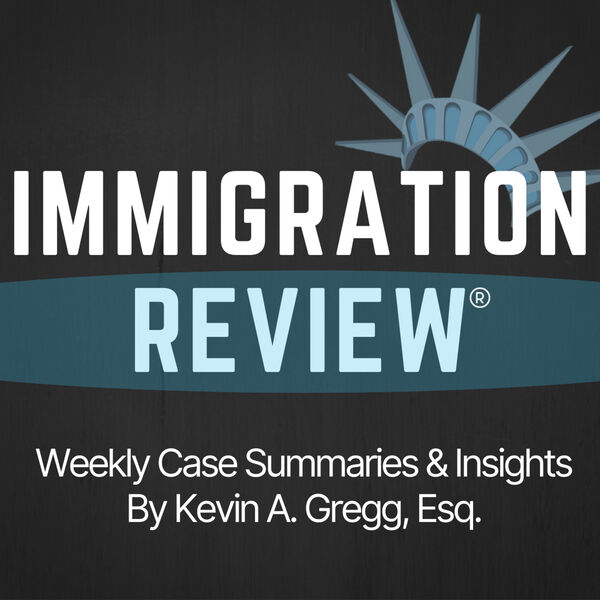 Immigration Review Podcast Artwork Image