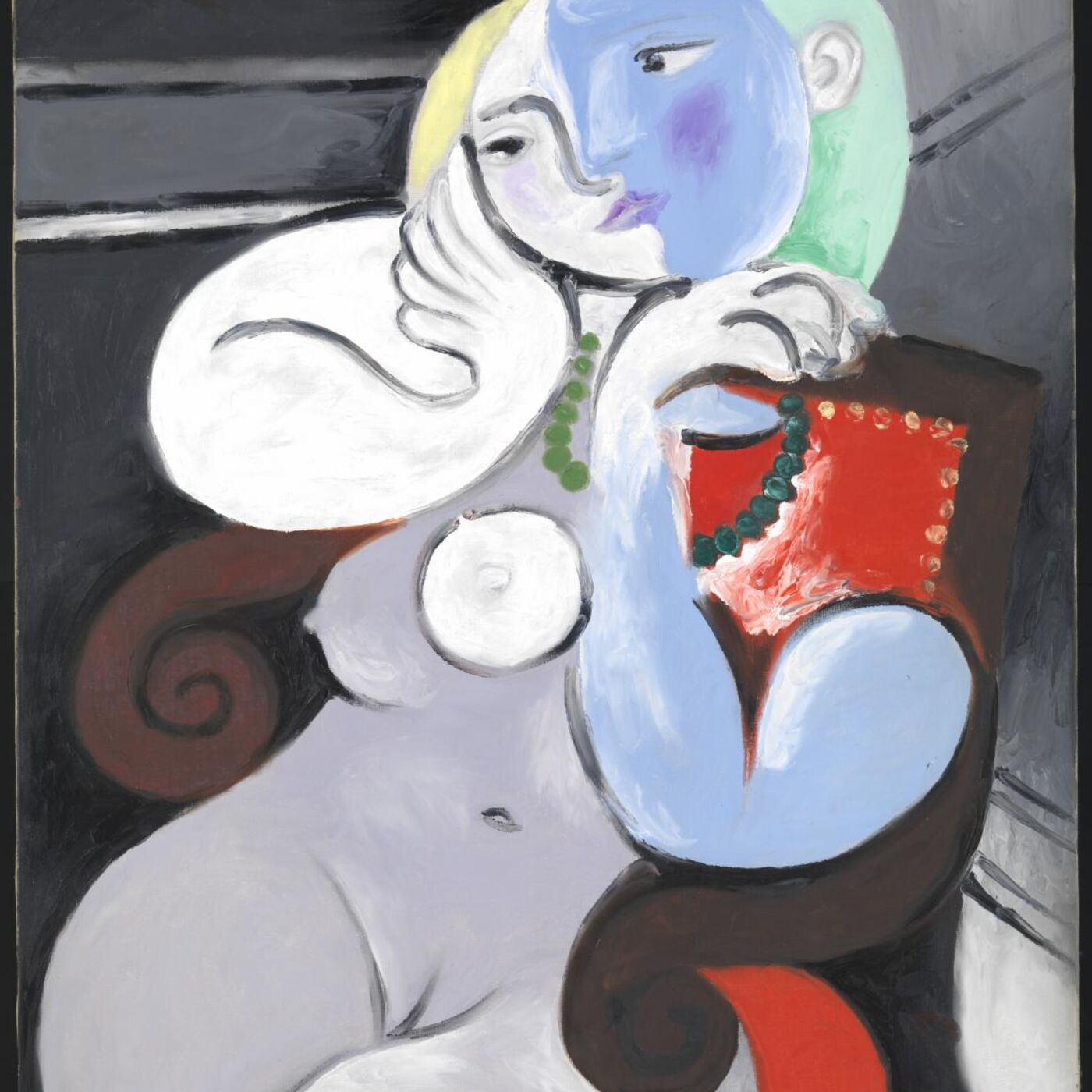 Woman in a Red Armchair by Pablo Picasso