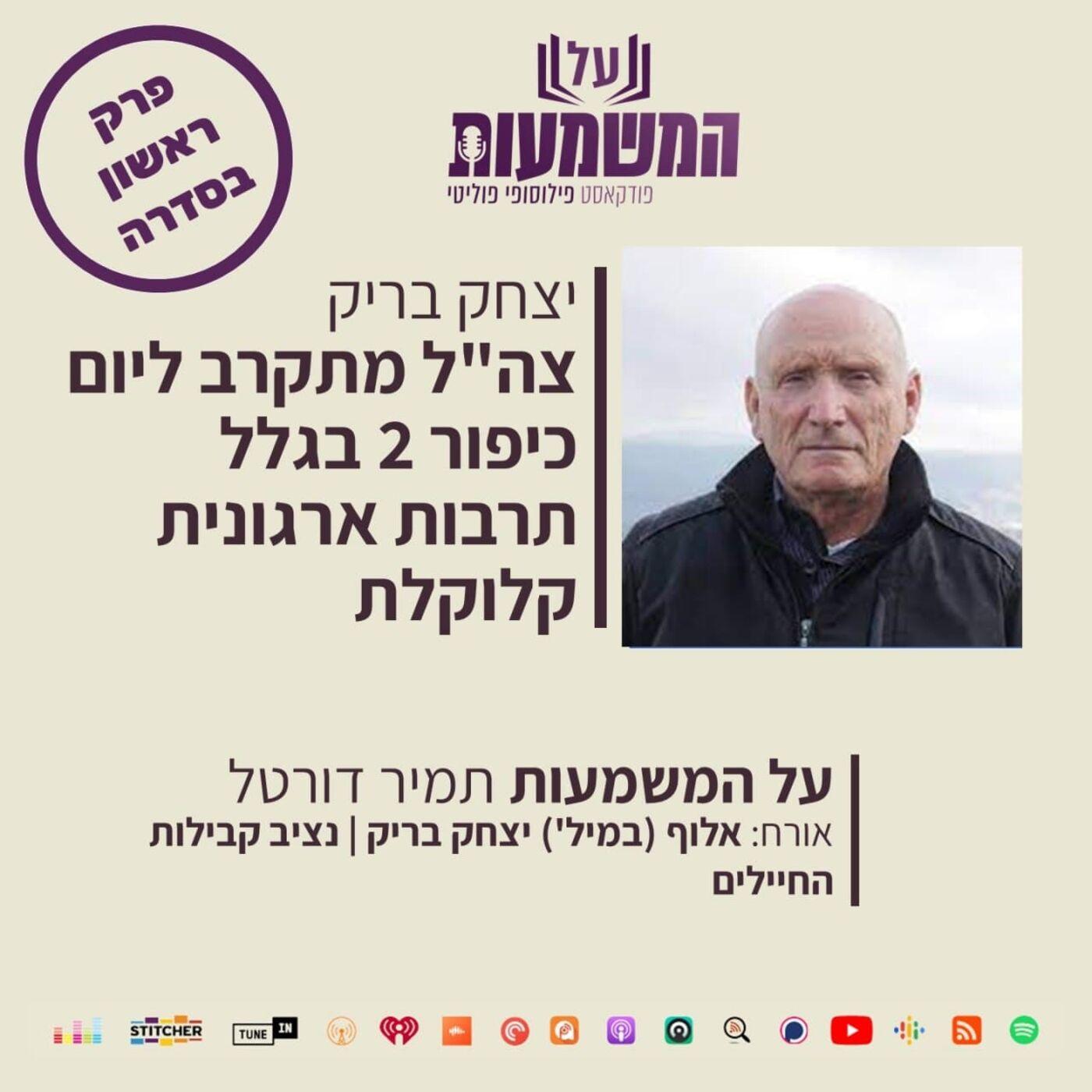 """האלוף במיל' יצחק בריק – צה""""ל מתקדם ליום כיפור 2 בגלל תרבות ארגונית קלוקלת"""