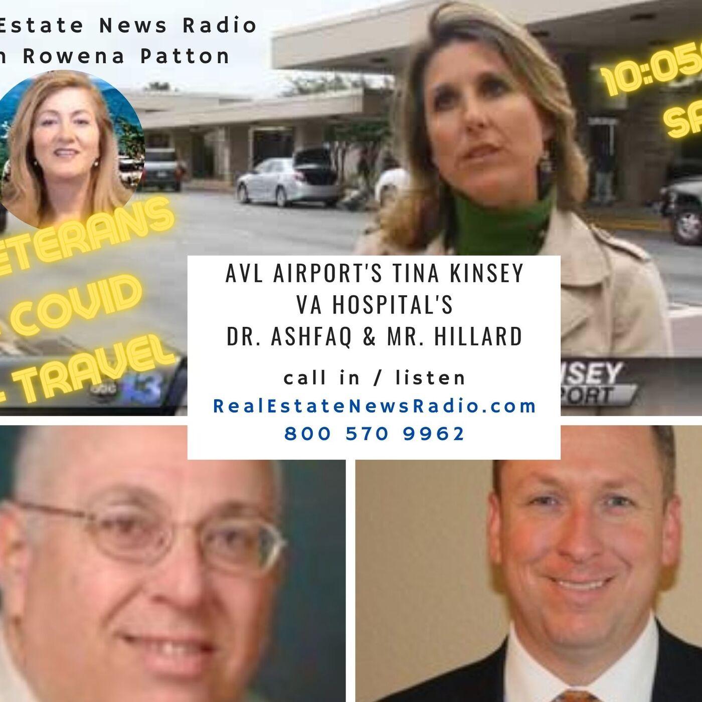 Asheville Airport's Tina Kinsey, VA Medical Center's Dr Ash and Mr Hillard Show # 539