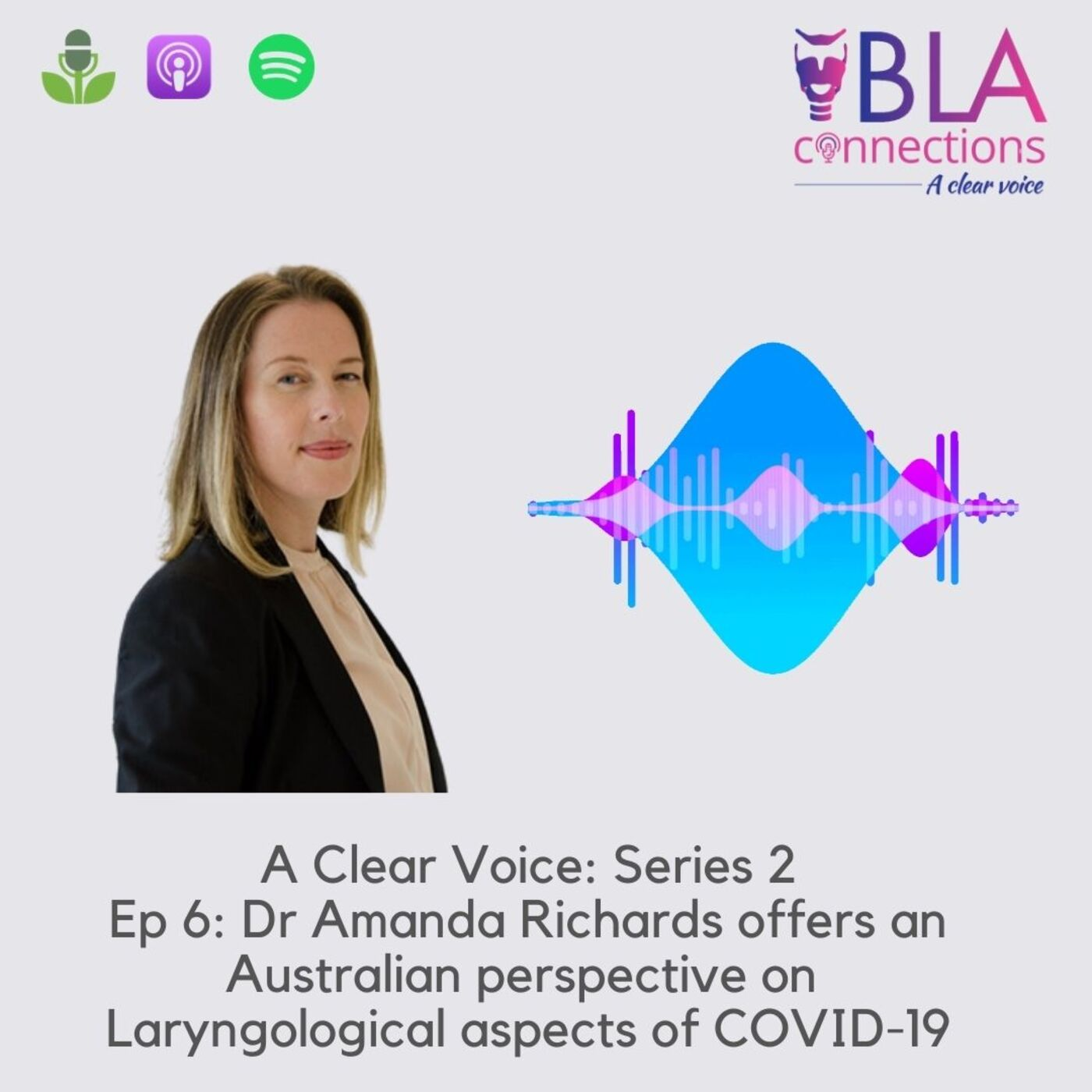 S2 Ep 6: Dr Amanda Richards offers an Australian perspective on Laryngological aspects of COVID-19