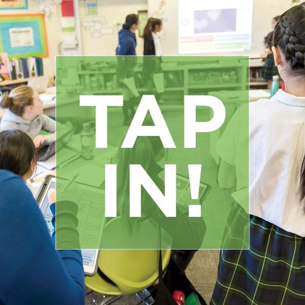 TAP IN! with Susan Hutchison and host Wendy Macken Podcast Artwork Image