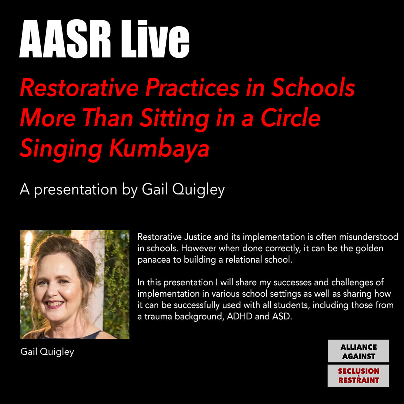 Restorative Practices in Schools More Than Sitting in a Circle Singing Kumbaya