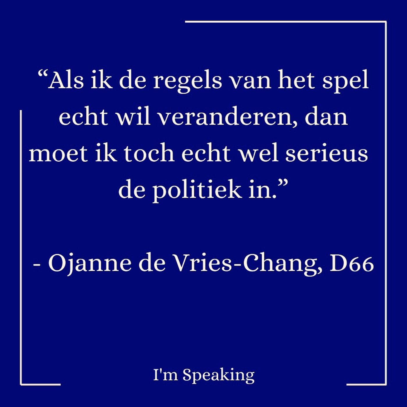Go Vote #2: Ojanne de Vries-Chang (D66)