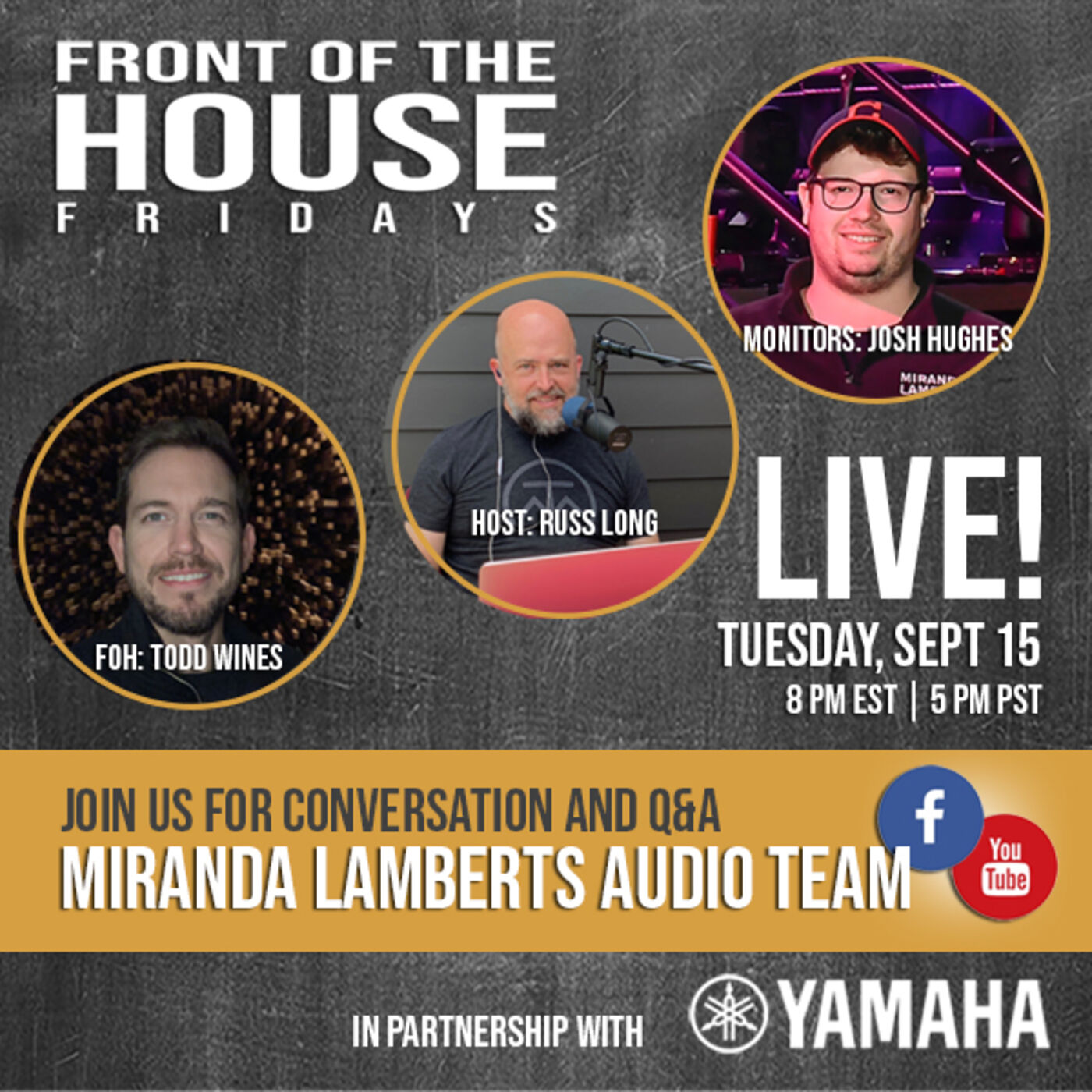 Episode 15: LIVE! Q&A With Miranda Lambert's Audio Team