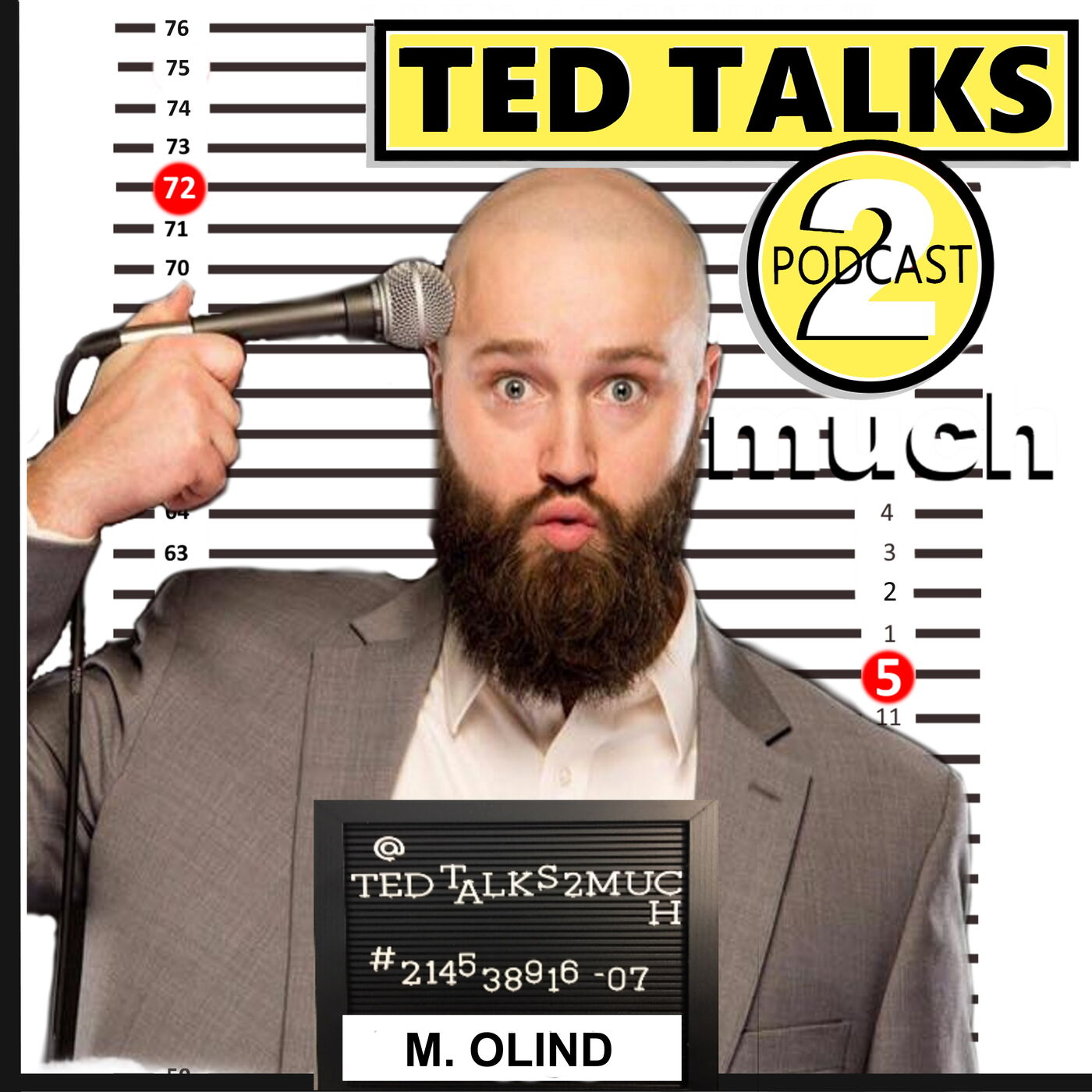 TED TALKS 2 Marcus Olind (Way, Way 2 Much)... about Money / Fame, Detroit Comedy & Accents