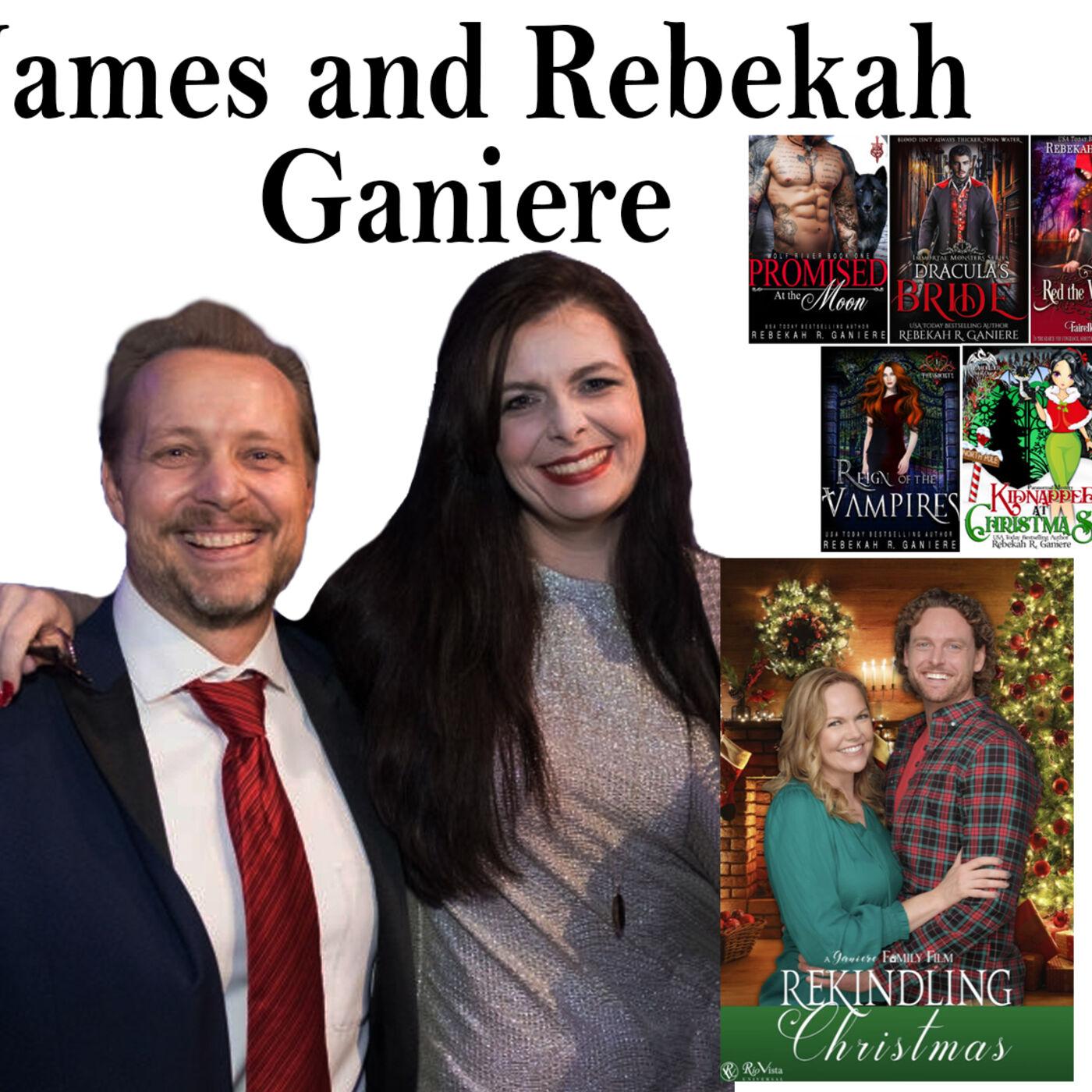 "Harvey Brownstone Interviews James and Rebekah R. Ganiere on their Emmy Nominated film, ""Rekindling Christmas"""