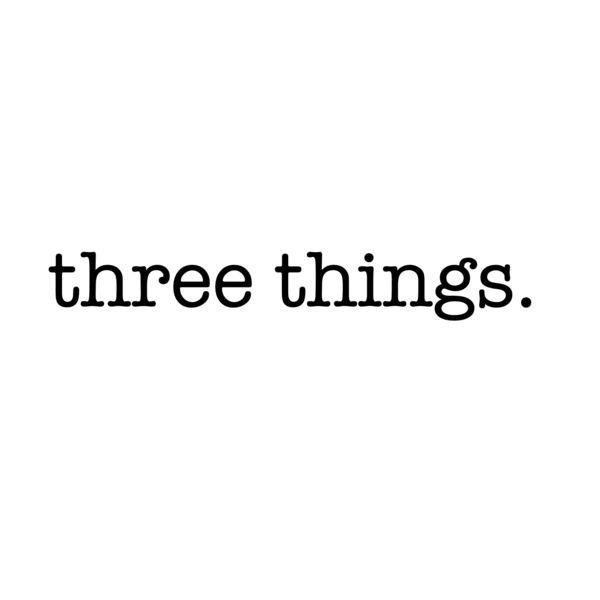 Three Things Podcast Artwork Image