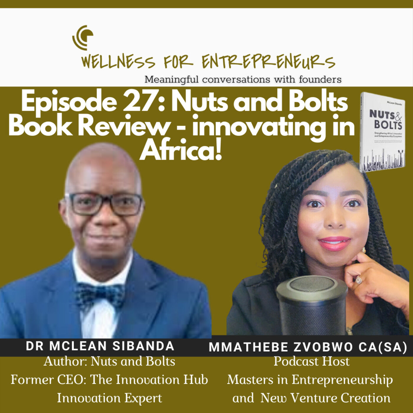 Episode 27: Nuts and Bolts Book Review - innovating in Africa, with Dr. McLean Sibanda