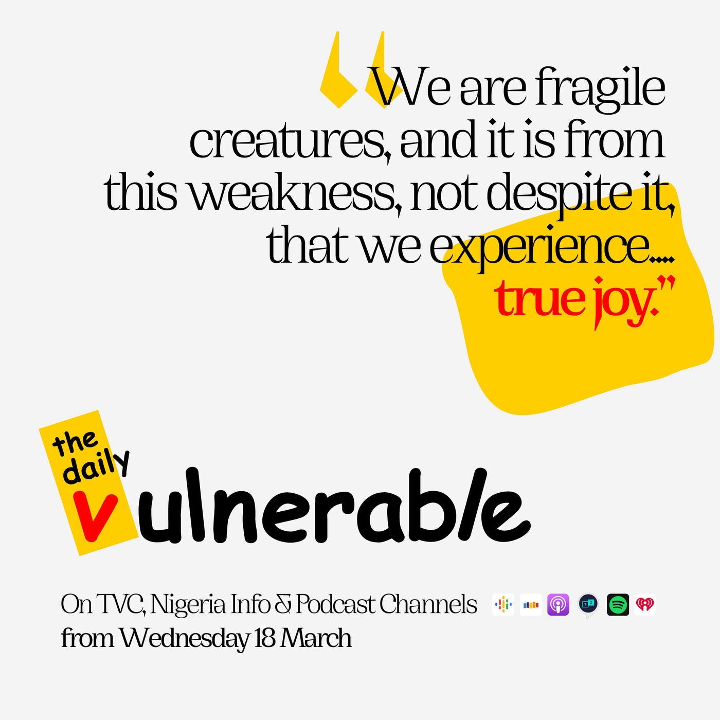 The Daily Vulnerable E.118 - Counterfeit pain