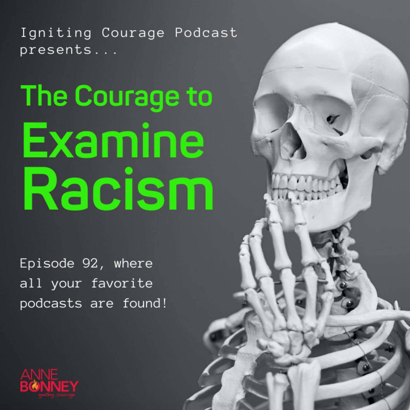 IGNITING COURAGE Podcast Episode 92: The Courage to Examine Racism