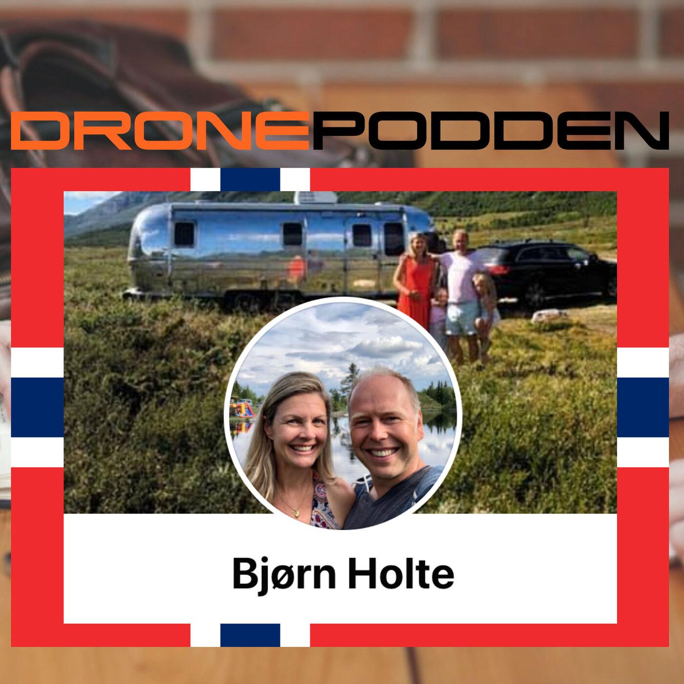 Episode nr. 9 - Innovatør og SerieGrunder Hr. Bjørn Holte inviterer @DroneStig på besøk til Hemsedal